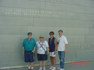 Cecil and Bianca Deal, Irene Shanley, and Hal Williams at Fort McHenry